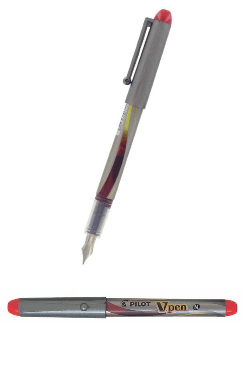 Pilot Dolmakalem V Pen Sılver Kırmızı Svp-4m