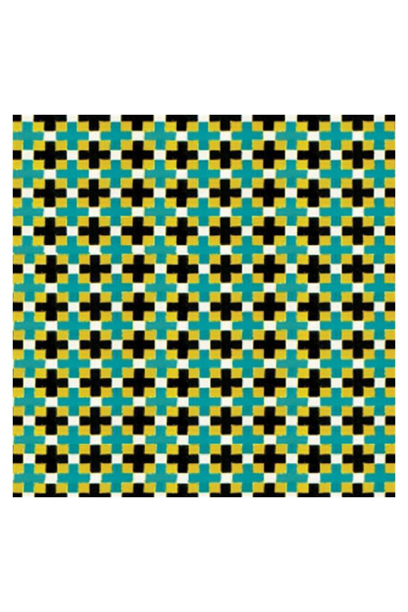 Yeşil-Siyah Kiremit Desenli Karton Duvar--1/100--3