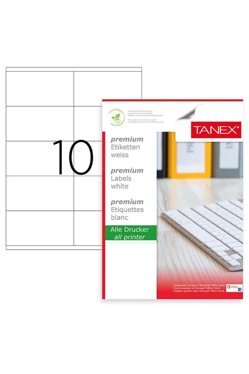 Tanex TW-2510 105mmx56mm Lazer Etiket 100 Tabaka