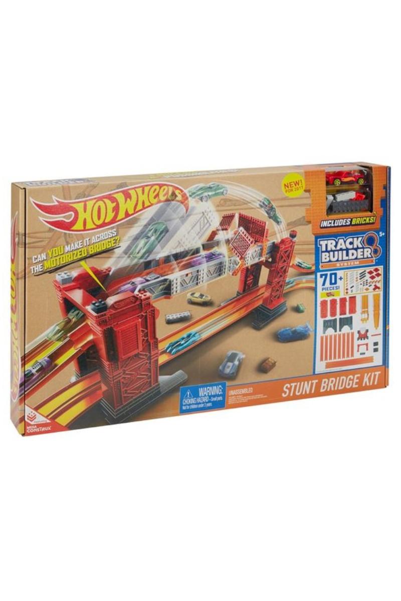 Hotwheels Track Builder Bloklu Köprü Yarışı