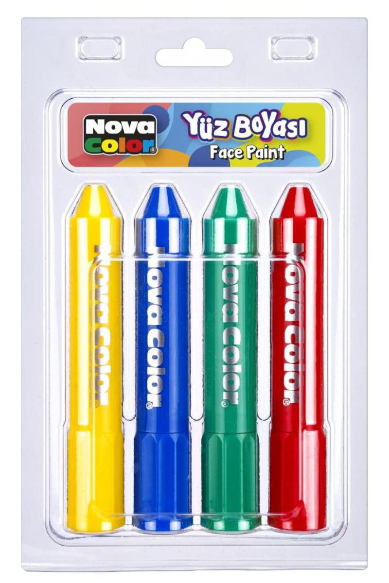 Nova Color Yüz Boyası 4'lü