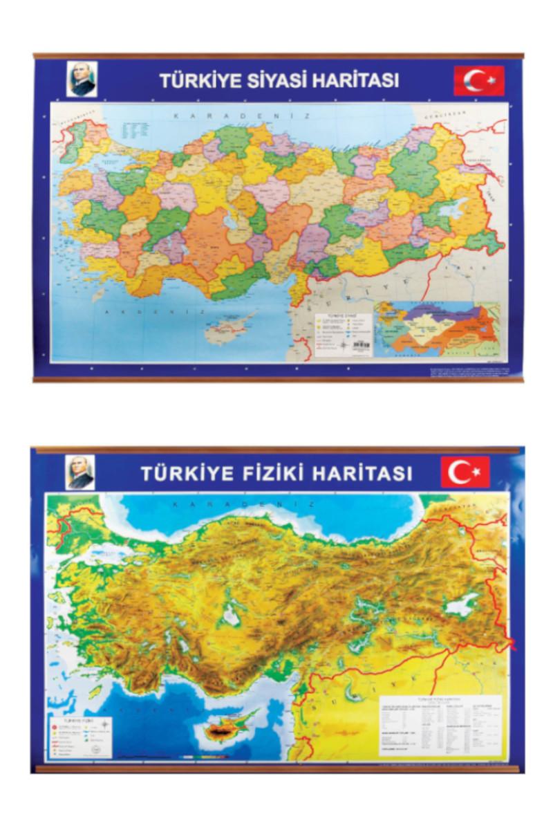 Panda Türkiye Siyasi+Fiziki Harita 70x100