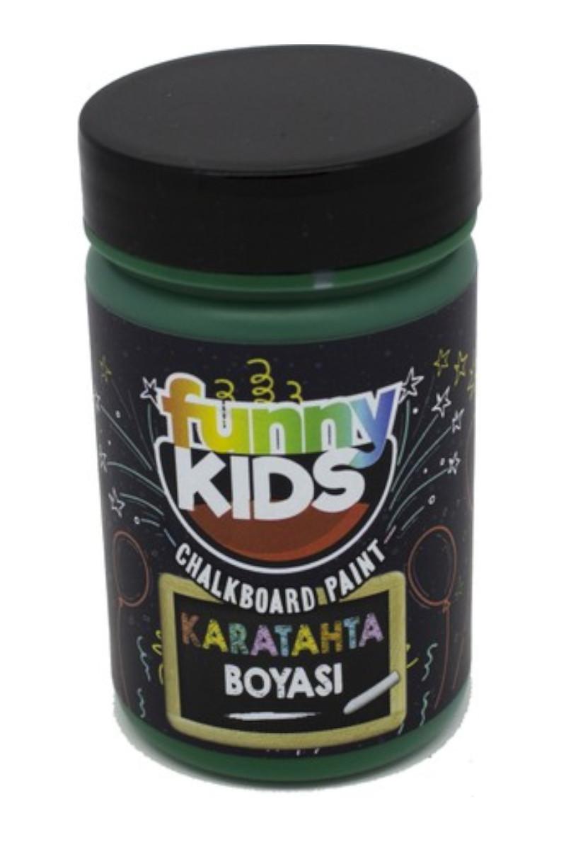 Funny Kids Kara Tahta Boyası Yeşil 100 Cc