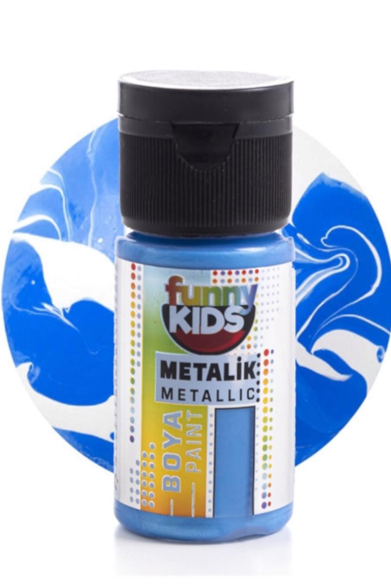 Funny Kids Metalik Boya 020cc 2328 Mavi