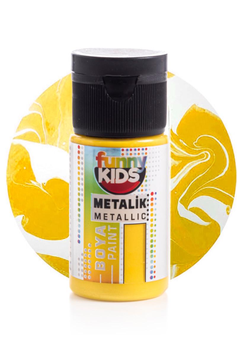 Funny Kids Metalik Boya 020cc 2334 Sarı