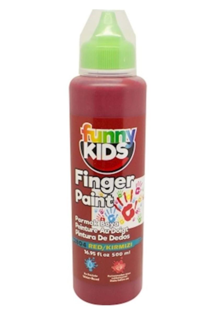 Funny Kids Parmak Boya 500cc 2804 Kırmızı