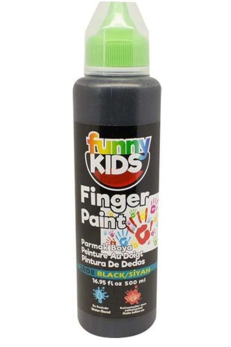 Funny Kids Parmak Boya 500cc 2808 Siyah