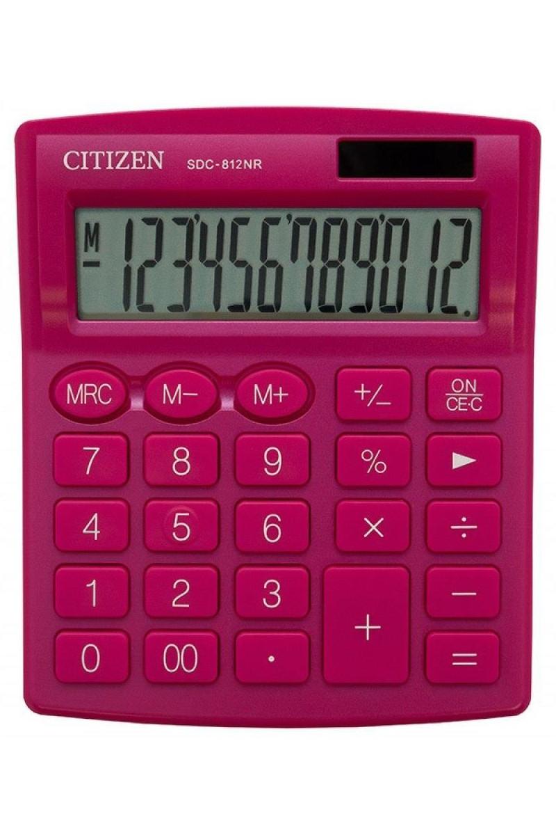 Citizen Hesap Makinesi Pembe SDC-812NR