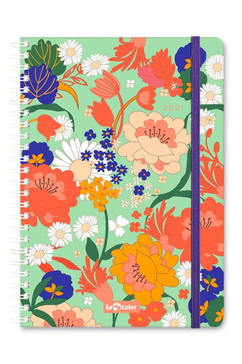 Le Color Bloom 2021 Haftalık Ajanda Stickerlı 15x21