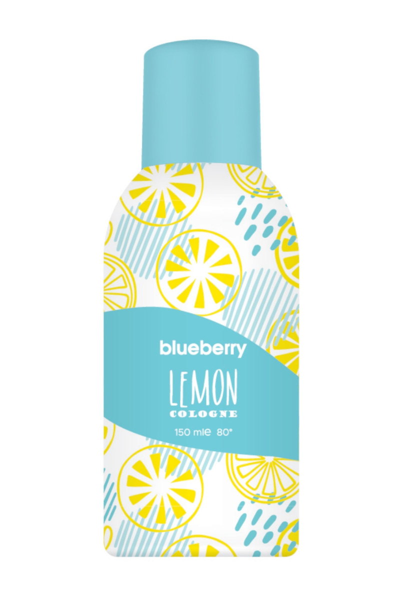 Blueberry Aerosol Sprey Kolonya Lemon 150 Ml 80 Derece