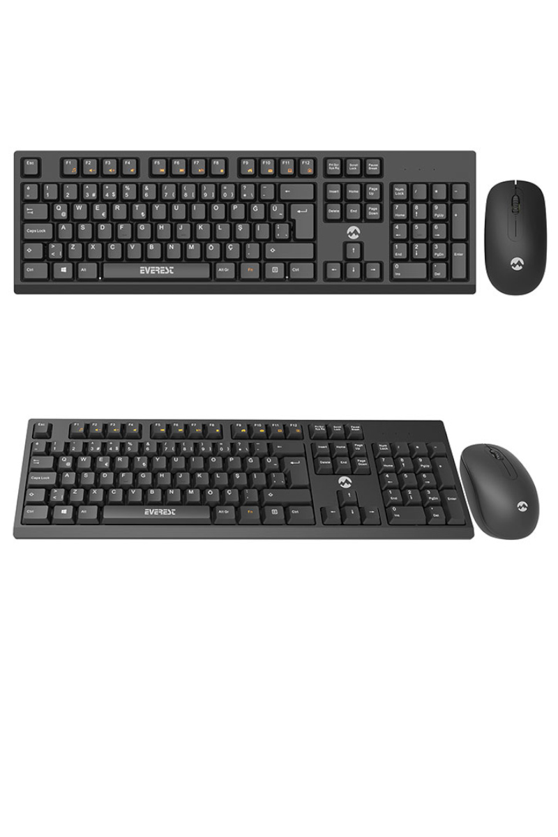 Everest Km2510 Kablosuz Multimedia Klavye+Mouse Set