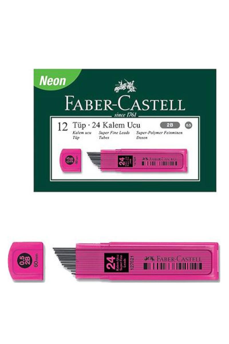 Faber Castell Grip Min 0.7 2b 60mm 120'li Pembe Uç 12 Kutu