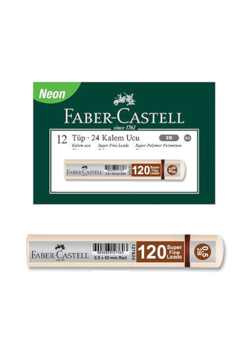 Faber Castell Grip Min 0.7 2b 60mm 120'li Beyaz Uç 12 Kutu