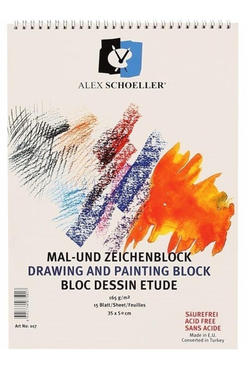 Alex Schoeller Resim Defteri 35x50cm 165gr