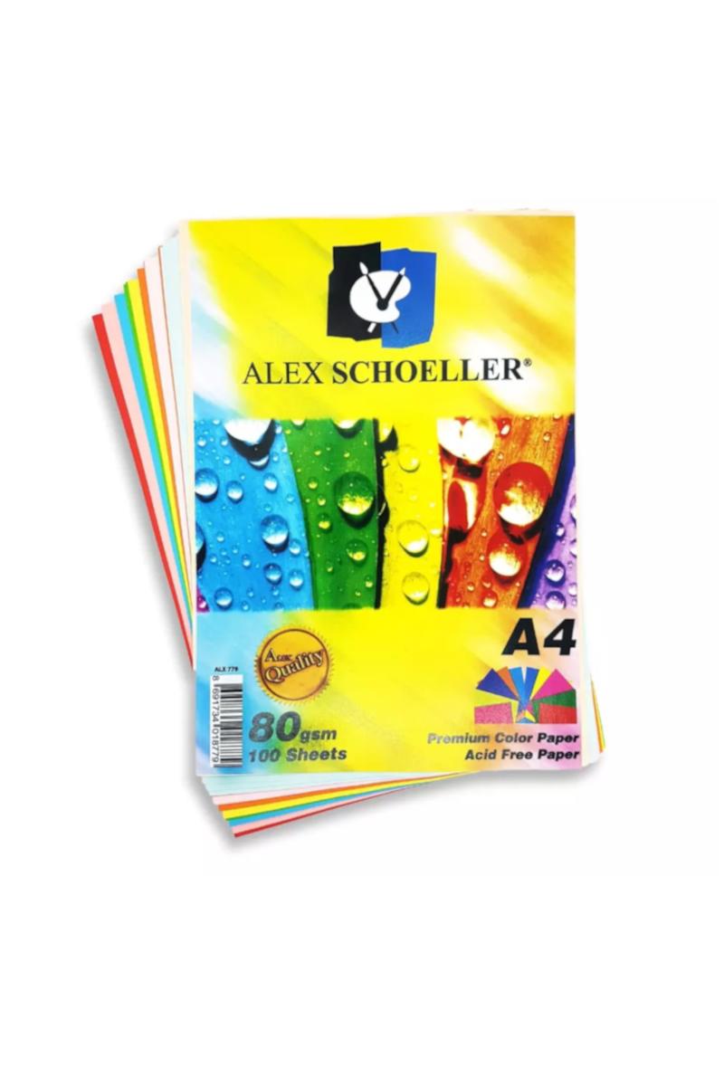 Alex Schoeller 10 Renk A4 Fotokopi Kağıdı 100'lü