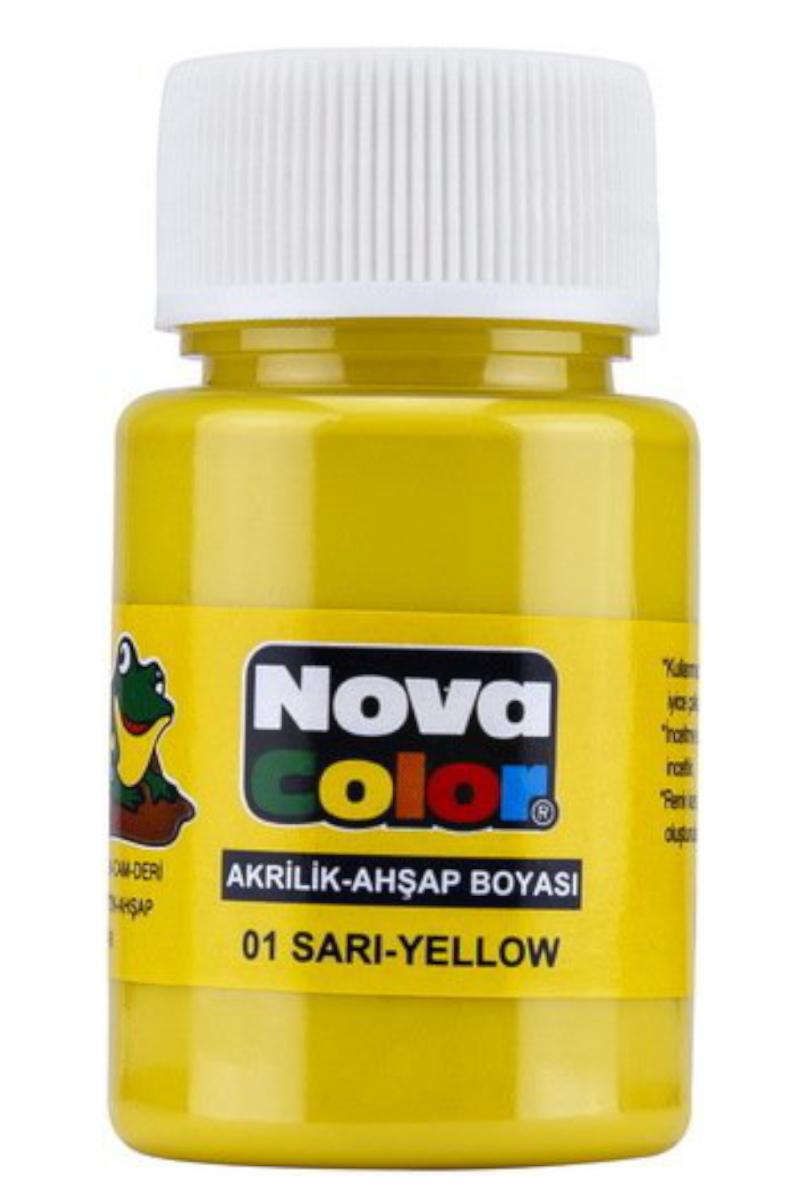 Nova Color Akrilik Boya Şişe Sarı