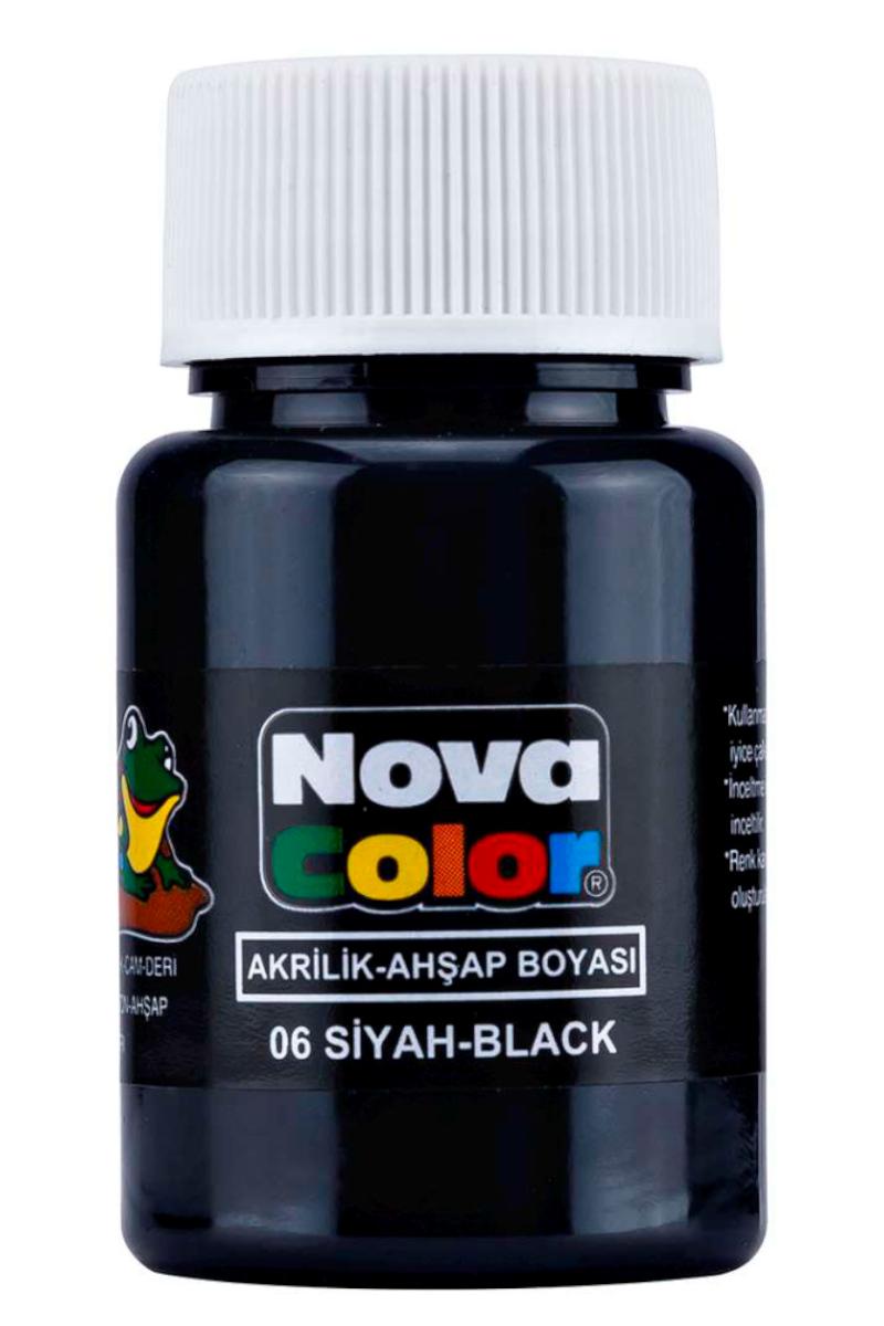 Nova Color Akrilik Boya Şişe Siyah