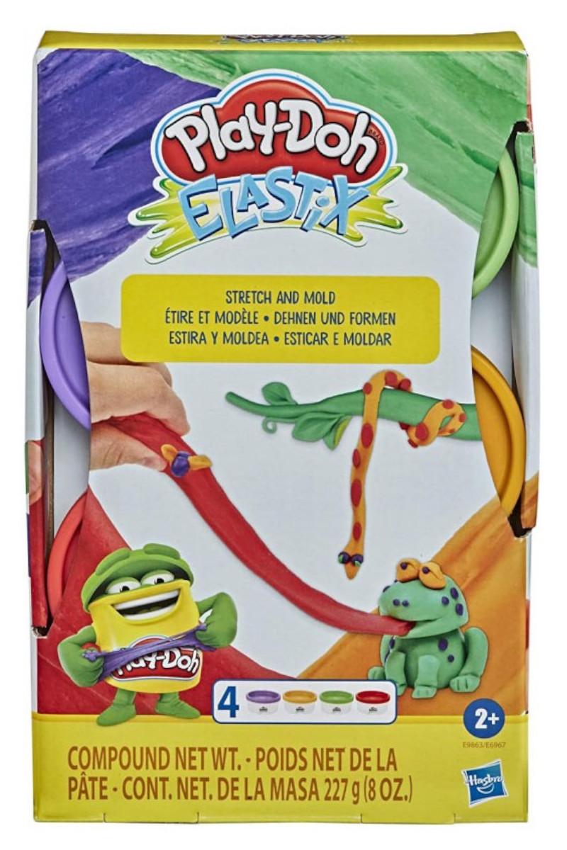 Play-Doh Elastik 4'lü Hamur