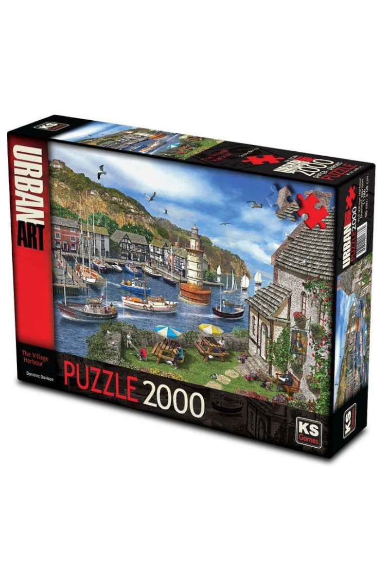Ks GamesPuzzle 2000 Parça Vıllage Harbour 11386