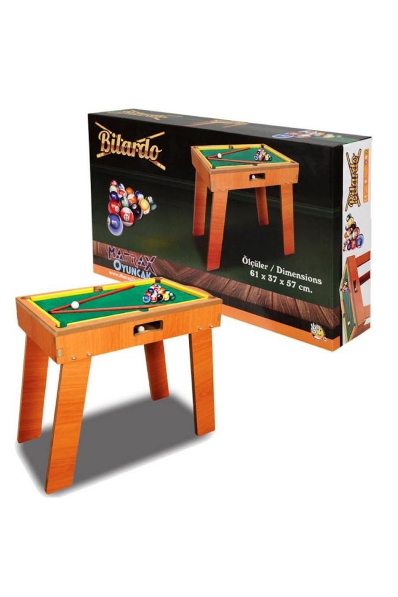Ahşap Bilardo Oyunu Ayaklı