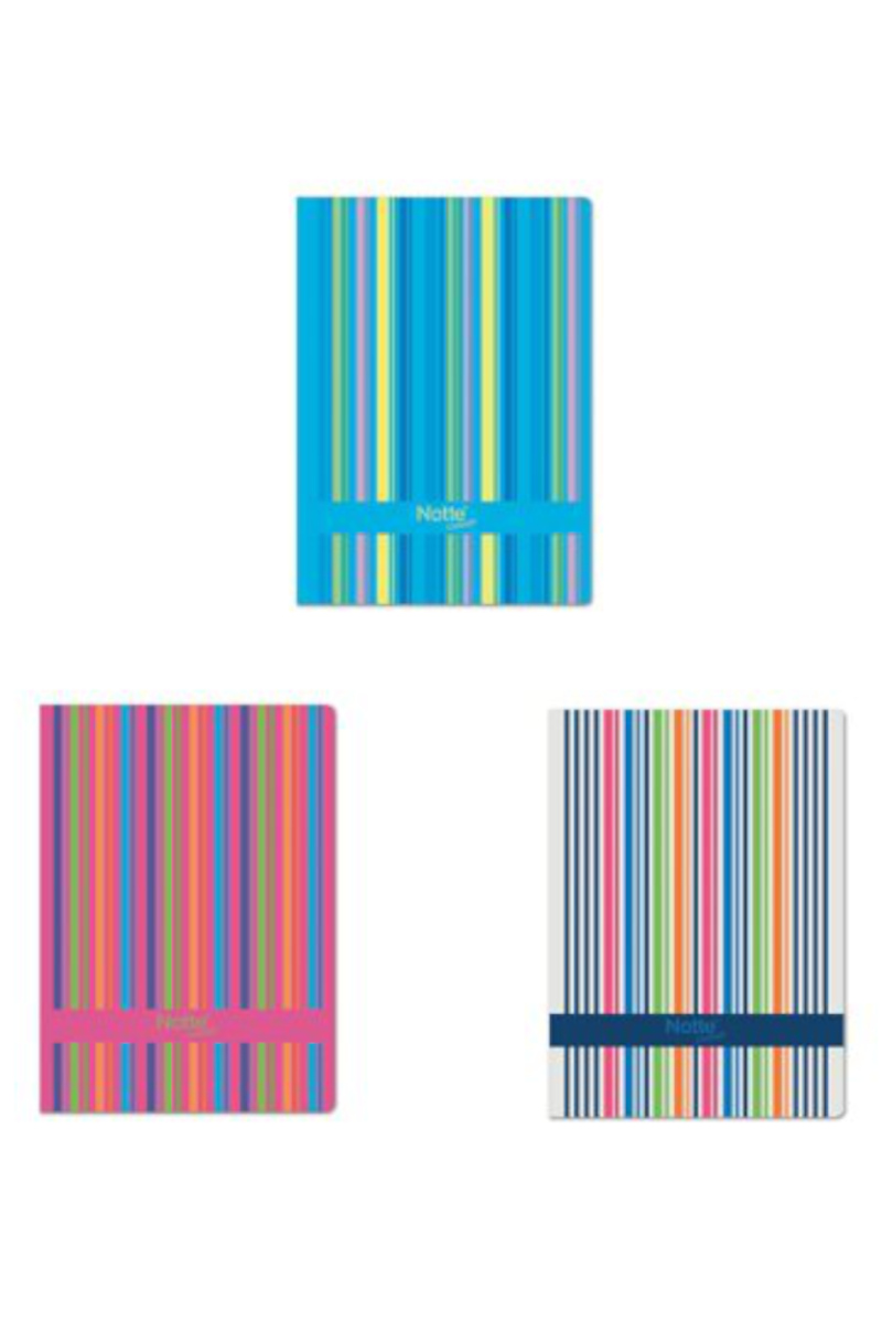 Notte Index Spiralli Plastik Kapak Çizgili Defter A6 150 Yaprak