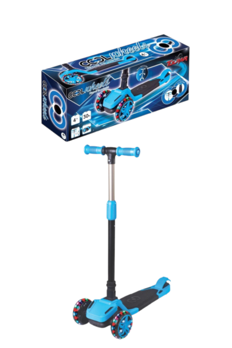 Cool Wheels Tulpar Işıklı Katlanır Scooter Mavi