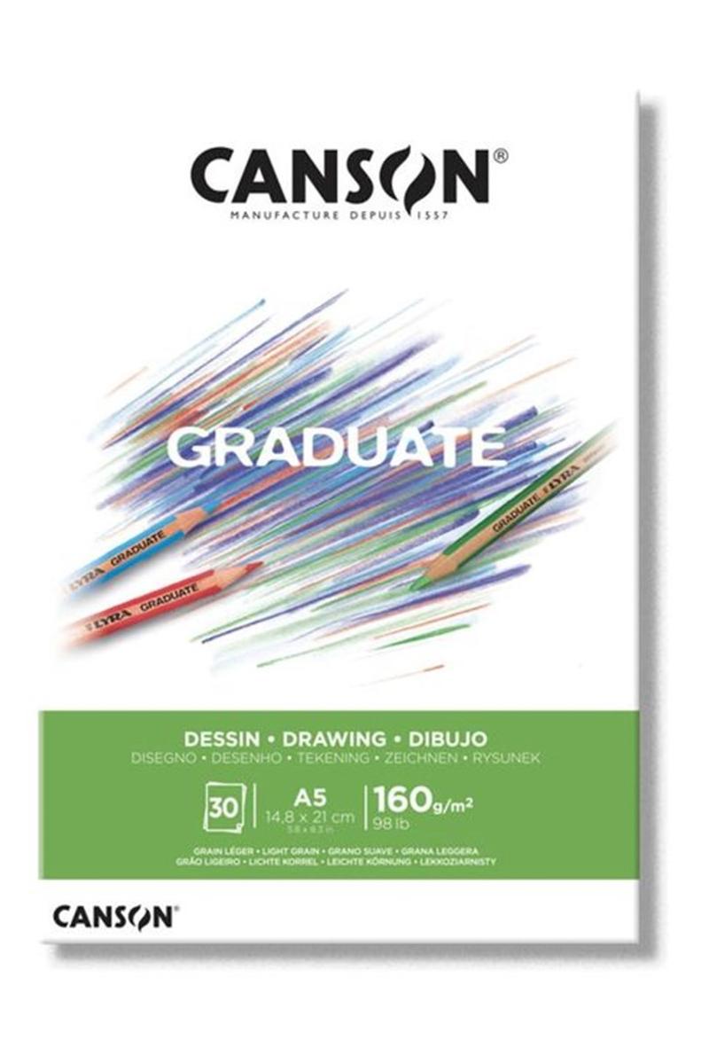 Canson Pad Cangrad Deawıng Whıte 30s A5 160gr