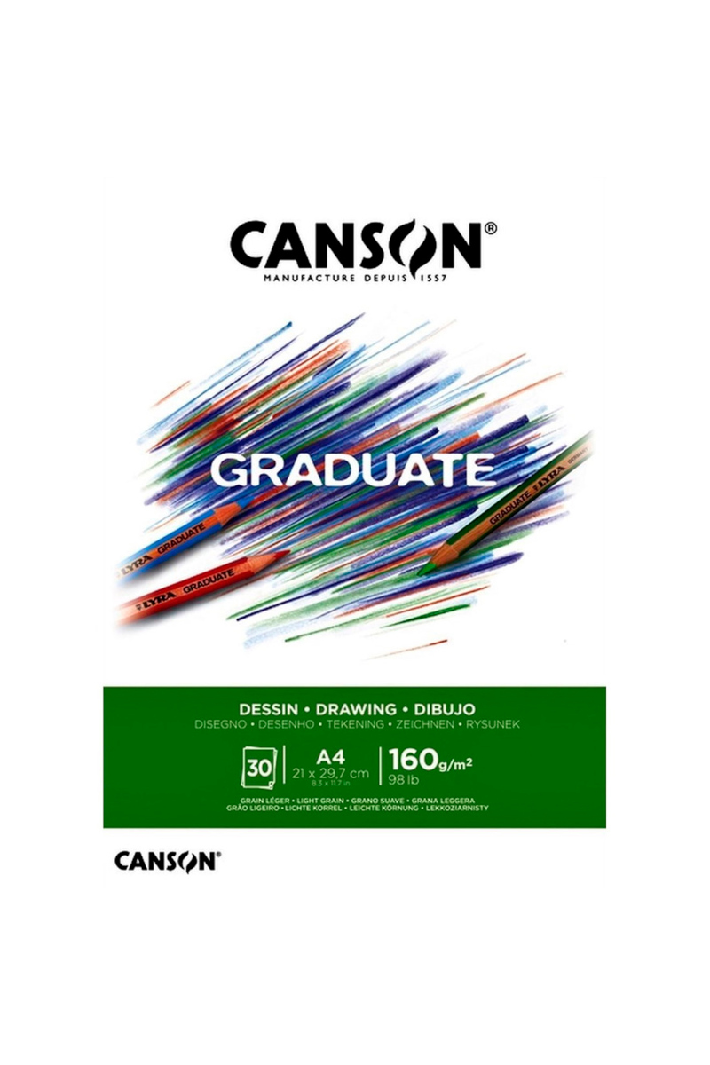 Canson Pad Cangrad Drawıng Whıte 30s A4 160gr