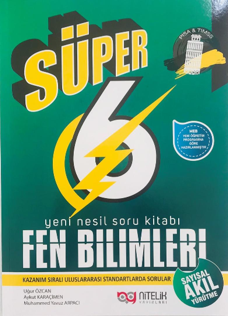 6. Sınıf Süper Fen Bilimleri Yeni Nesil Soru Kitabı