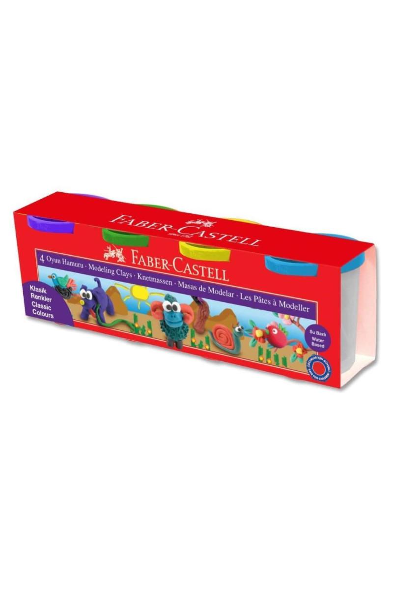 Faber-Castell Su Bazlı Oyun Hamuzu 4 Renk