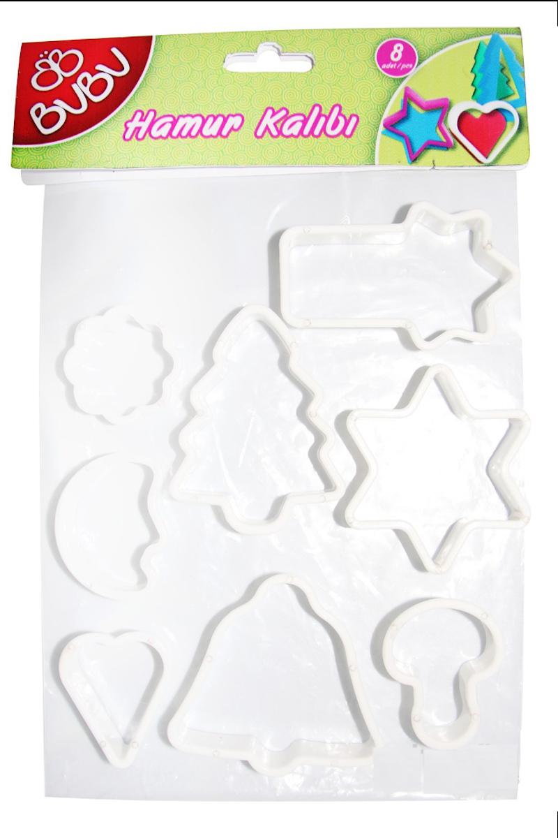 BU-BU Oyun Hamuru Kalıbı Beyaz 8'li