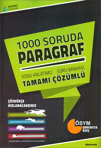 YGS 1000 Soruda Paragraf Tamamı Çözümlü Konu Özetli