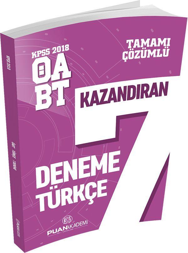 Puan Akademi 2018 ÖABT Türkçe Öğretmenliği Tamamı Çözümlü 7 Deneme