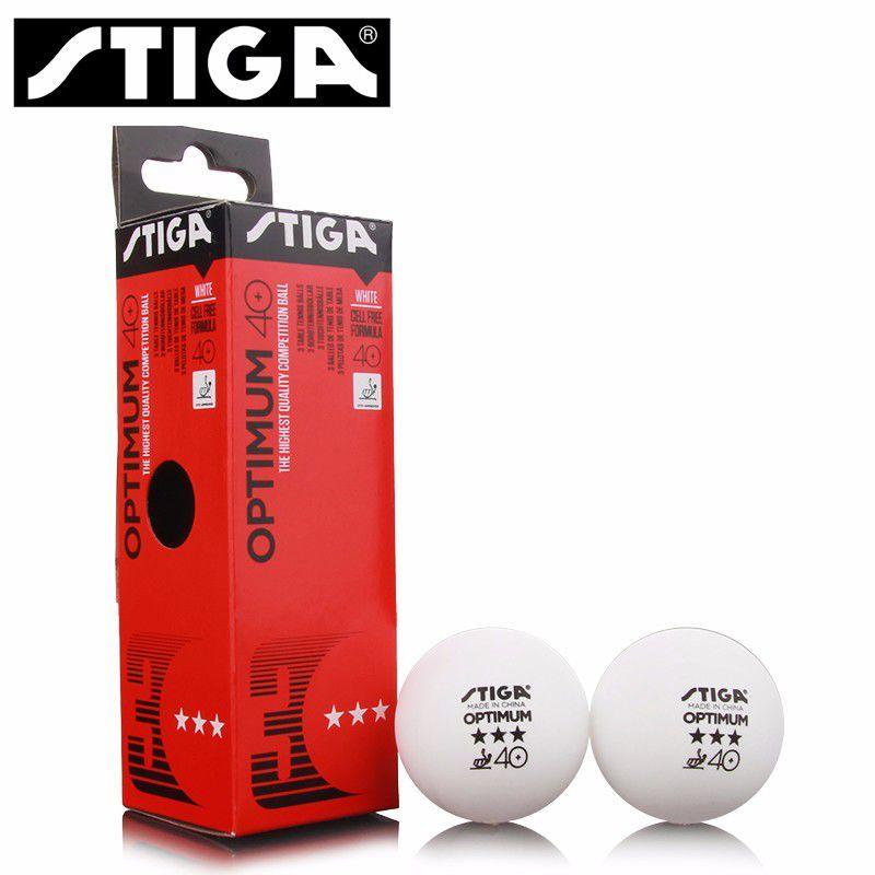 Stiga Optimum 40+ Masa Tenisi Topu ITTF Onaylı 3 Yıldız Beyaz