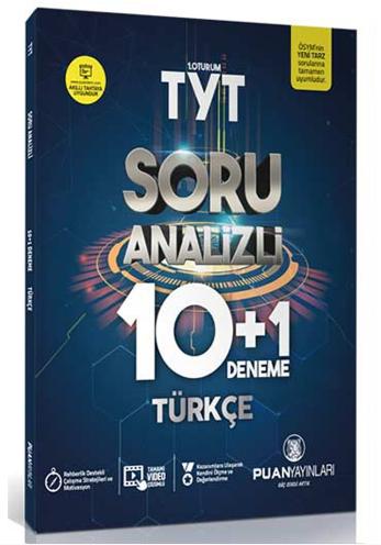Puan Akademi TYT Türkçe Soru Analizli 10 + 1 Deneme