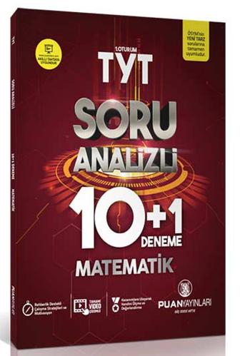 TYT Matematik Soru Analizli 10+1 Deneme Puan Yayınları