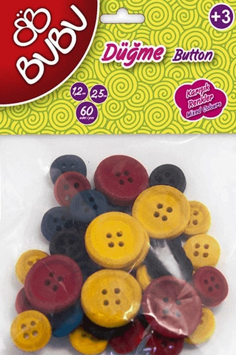 Bu-Bu Dugme 12 Cm 25 Cm 40 Li Renkli (Bubu-Hs0007)
