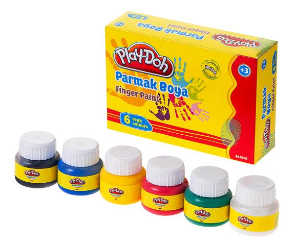 PLAY-DOH PARMAK BOYASI 6 RENK 30ML PLAY-PR001