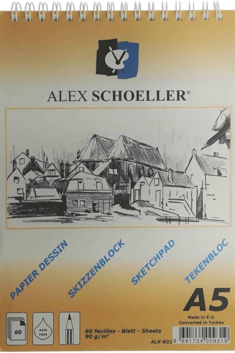 Alex Sch. Spr.Eskiz Blok 90gr A5 60yp Dik. Alx-821
