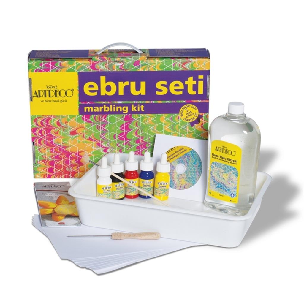Artdeco Ebru Başlangıç Seti - 5 Renk