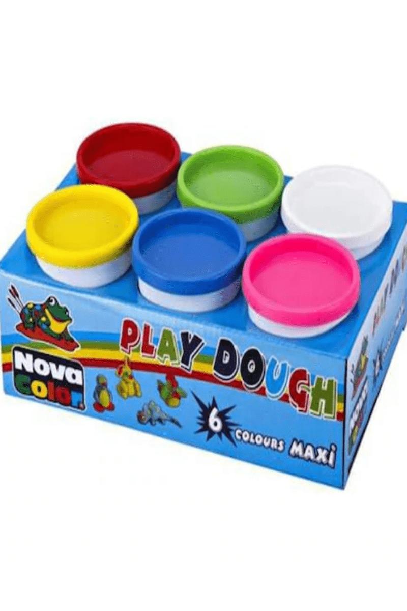 Nova Color Nc-4146 Oyun Hamuru Maxi Beyaz 6'lı