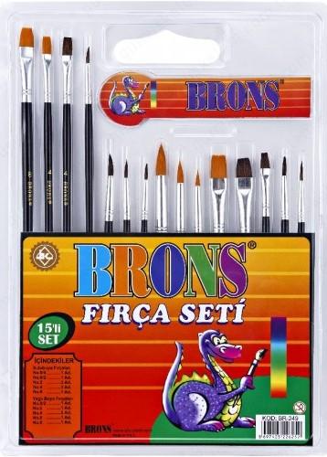 Brons Resim Fırçası Set 15li (Br-249)