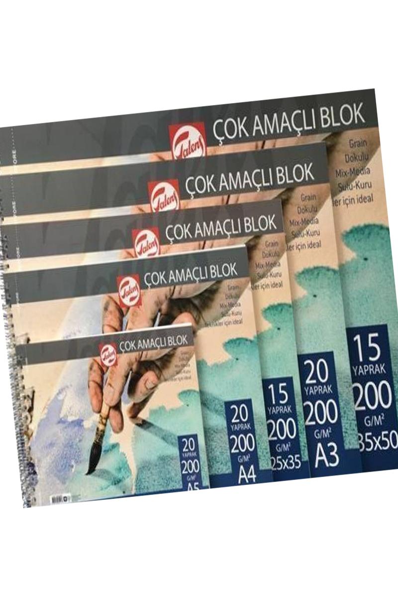 Talens Çok Amaçlı Resim Defteri 200Gr 35X50 15Yp