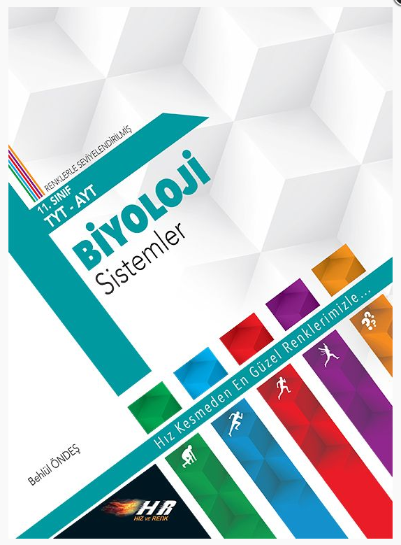 Hız ve Renk Yayınları 11. Sınıf TYT AYT Biyoloji Sistemler Soru Bankası