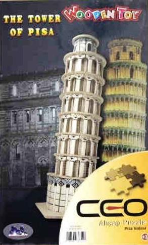 Ceo 3D Ahşap Puzzle Pısa Kulesi
