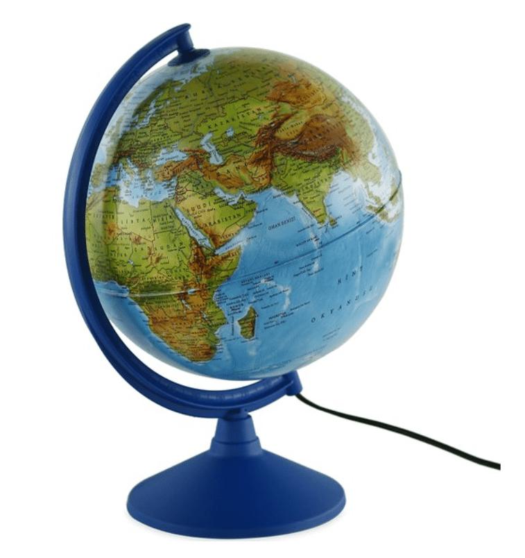 Gürbüz Işıklı Küre Fiziki + Siyasi (30 cm)